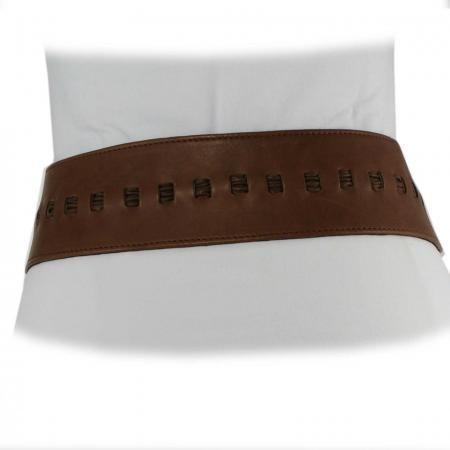 CURVE PERFECT RIBBON BELT <br /> light brown & dark brown