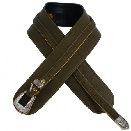 CURVE PERFECT RIBBON BELT<br>olive & gold