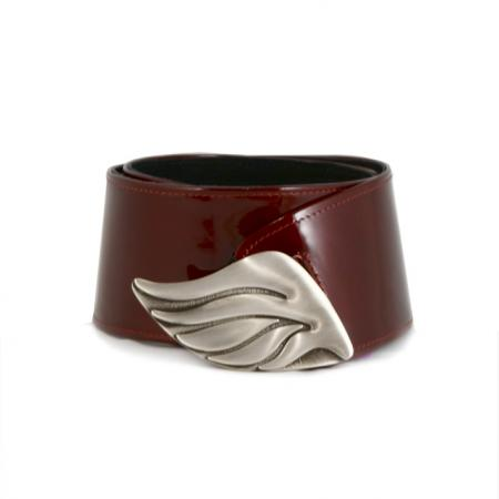 CURVE PERFECT CLASSIC BELT <br />  red patent leather