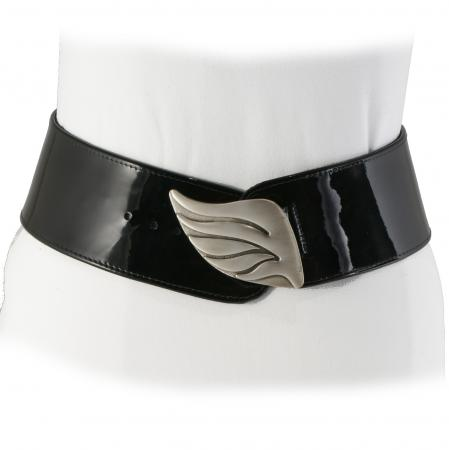 CURVE PERFECT CLASSIC BELT <br>  black patent leather