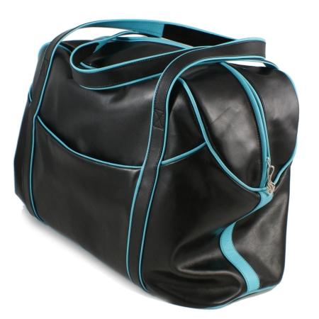LARGE LAZY WEEKENDER<br>black & apple green