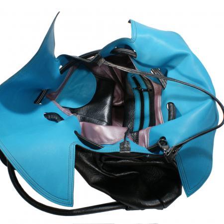 NANA PACK <br>gunmetal & turquoise