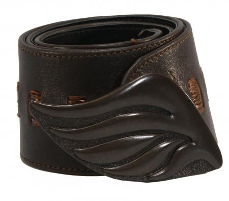 CURVE PERFECT RIBBON BELT <br> darkbrown & metallic brown
