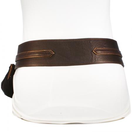 HIP DITTY WEST BAG <br> dark brown & bronze